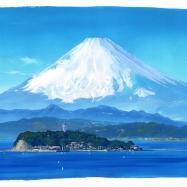 富士と江ノ島
