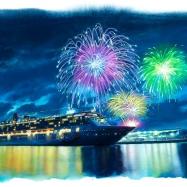 横浜港大桟橋夜景