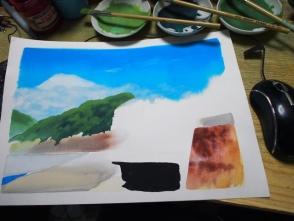 四角く綺麗に塗るのは以外に難しいです。