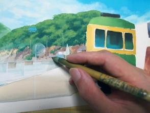 遠景はディテールは書き込まずに明暗だけで描くのがいいです。