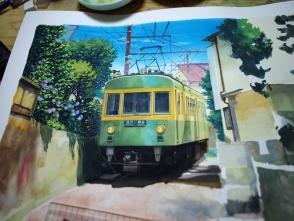 細かいディテールは写真を見て描きます。