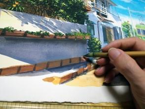 基本フリーハンドで描きます。