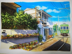 この絵は木村 優光さんのお写真を参考に描かせていただきました。どうもありがとうございます。