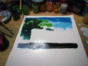乾いてから、重ねて塗るので細かいところはあまり考えてないです。