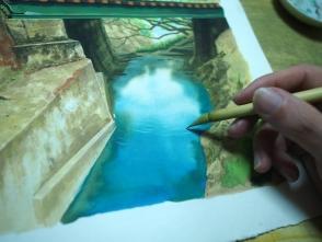 写真を観察しながら描きます。