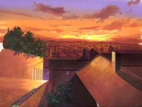 28.とりあえず、こんな感じになりました。次は最後の一番手前の屋根を描きます。つ、疲れた・・・