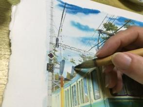 基本フリーハンドで描いています。