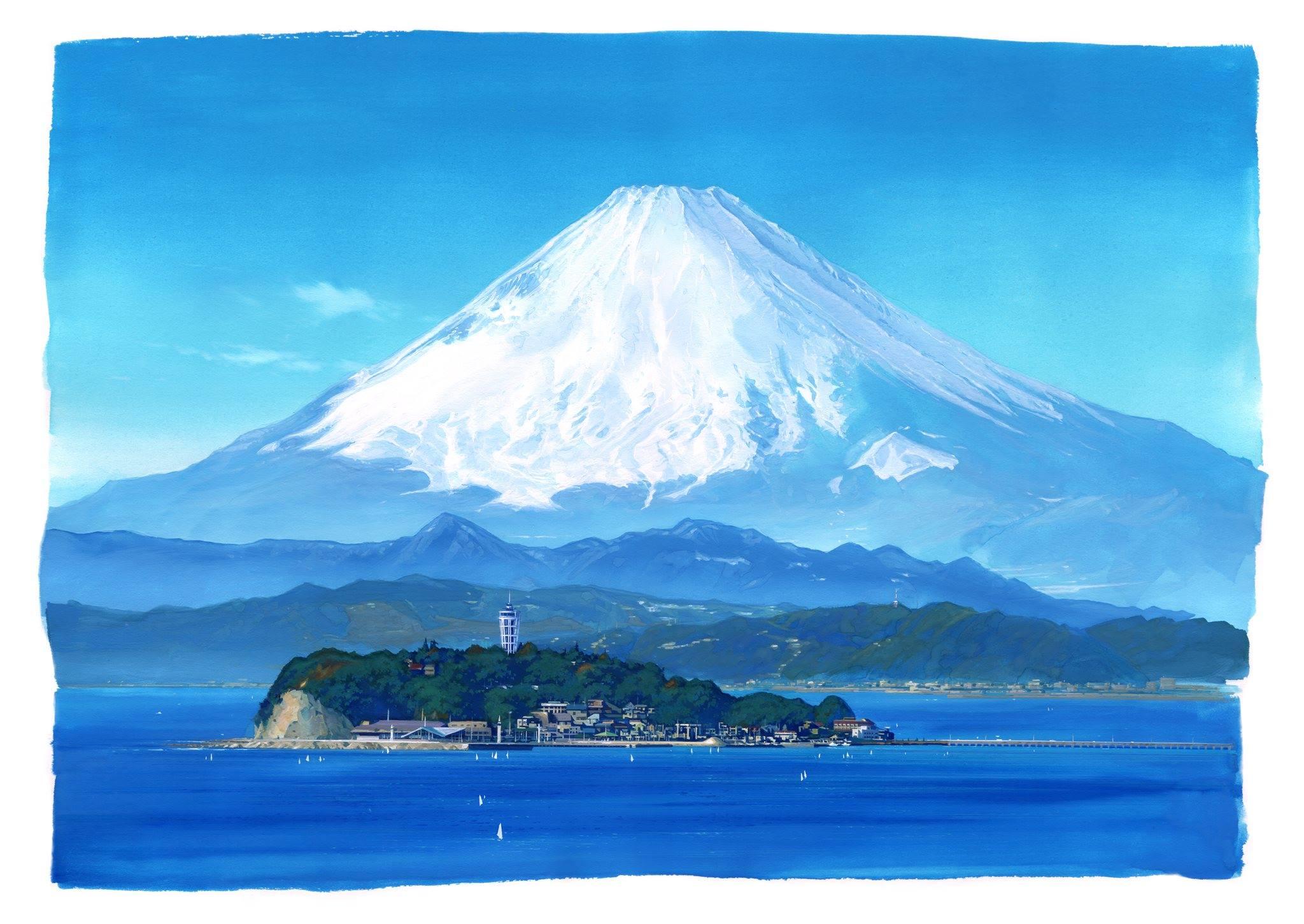 夕焼けの江ノ電