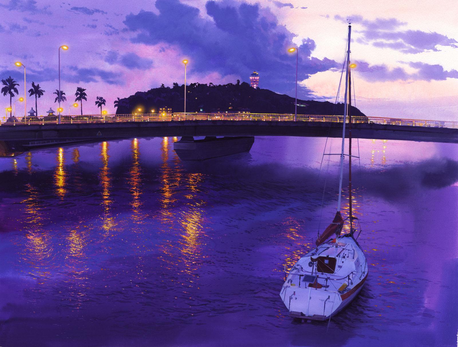 夕焼けの江ノ島