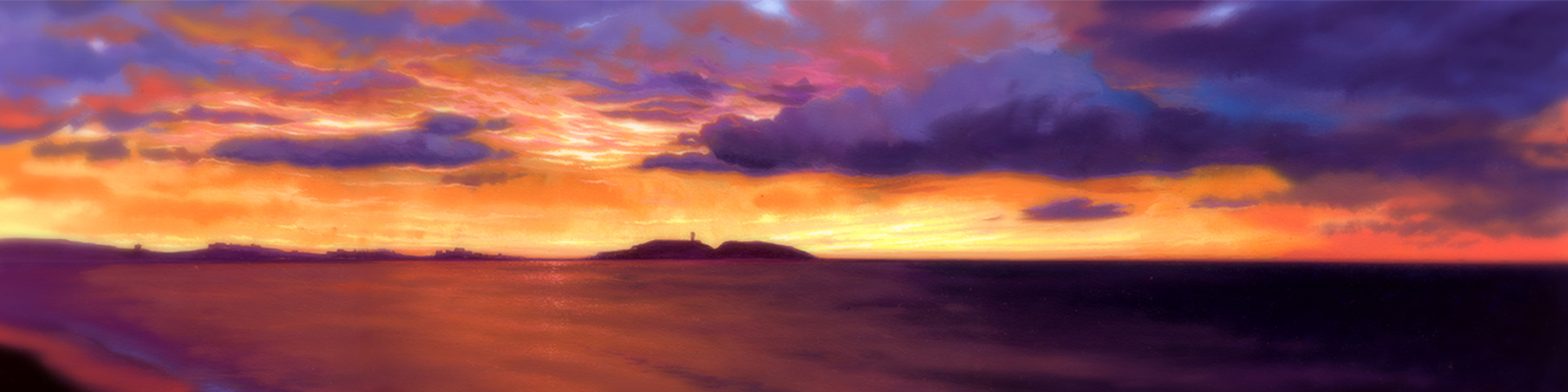 江ノ島の水彩画